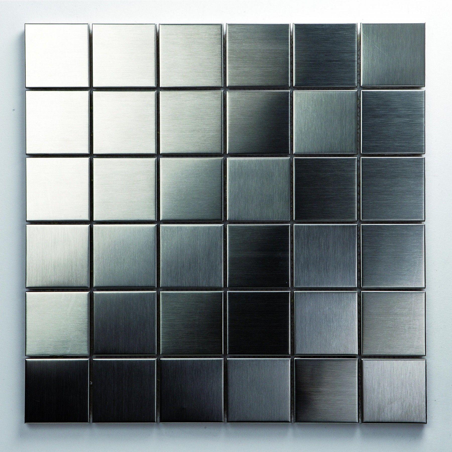 Das Aus Aluminium Gepresste Mosaik Metall Silber Ist Zwar Ein - Günstig mosaik fliesen kaufen