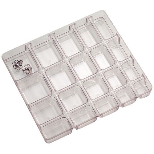Small Clear Jewelry Organizer 20 Compartment Image OrganizeIt