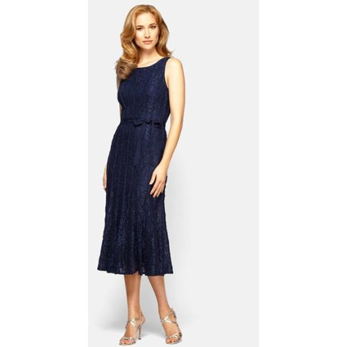 dab2a64d9b Alex Evenings Glitter Lace A-Line Midi Dress