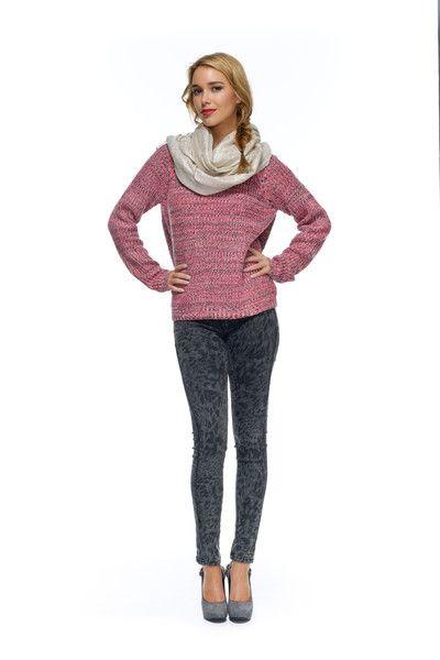 Valerie Boyfriend Knit – Orange Sherbet eBoutique