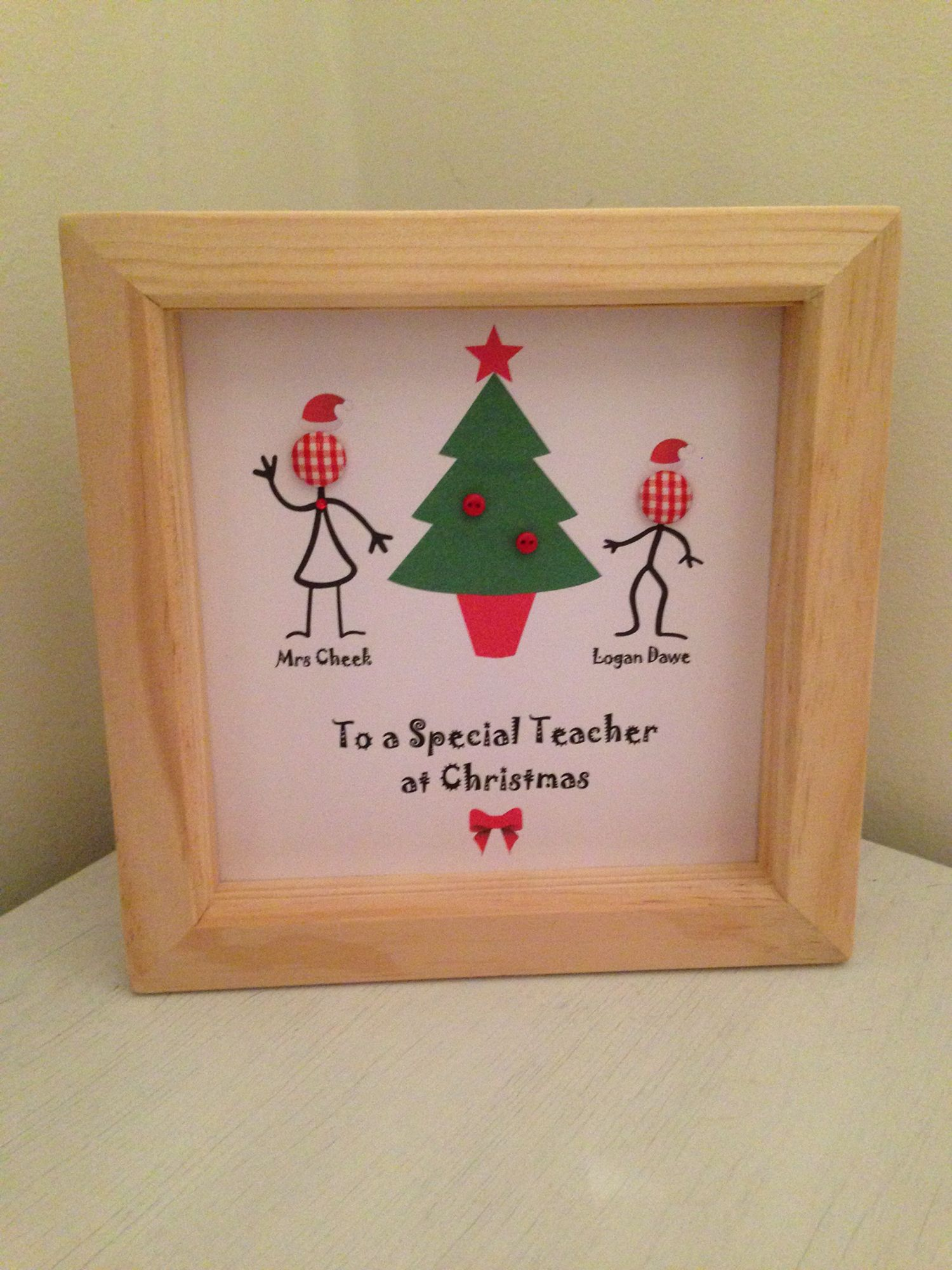 To A Special Teacher At Christmas Christmas Button Picture, Teacher