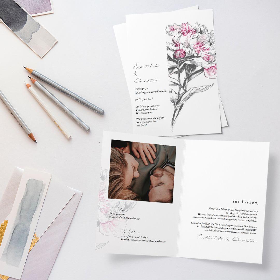 Einladungskarte Hochzeit Noblesse