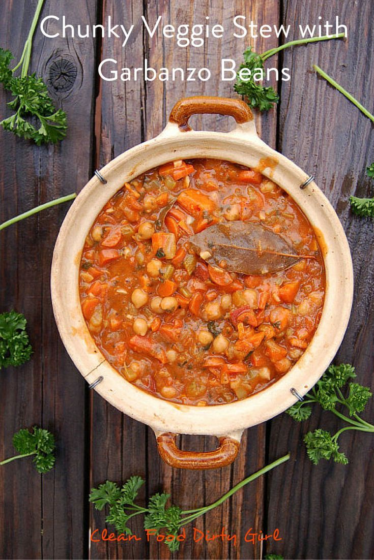 Chunky veggie stew with garbanzo beans recipe plant