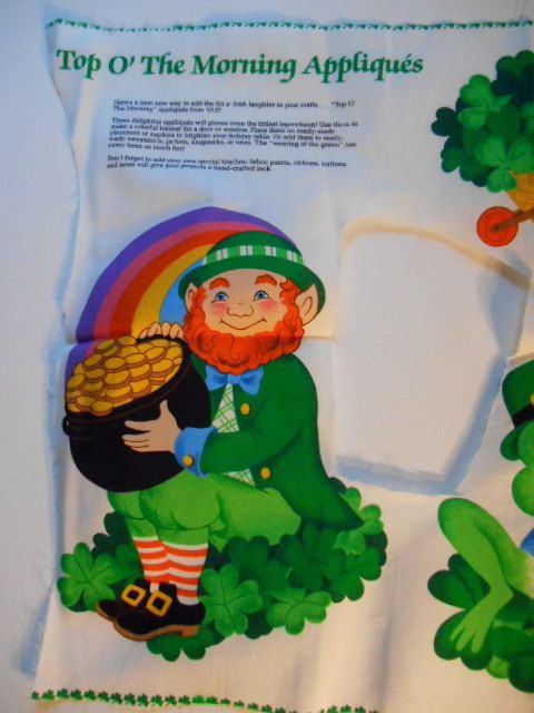 Sewing Panel Vintage Applique St. Patrick's Day by MadkDesigns, $4.99