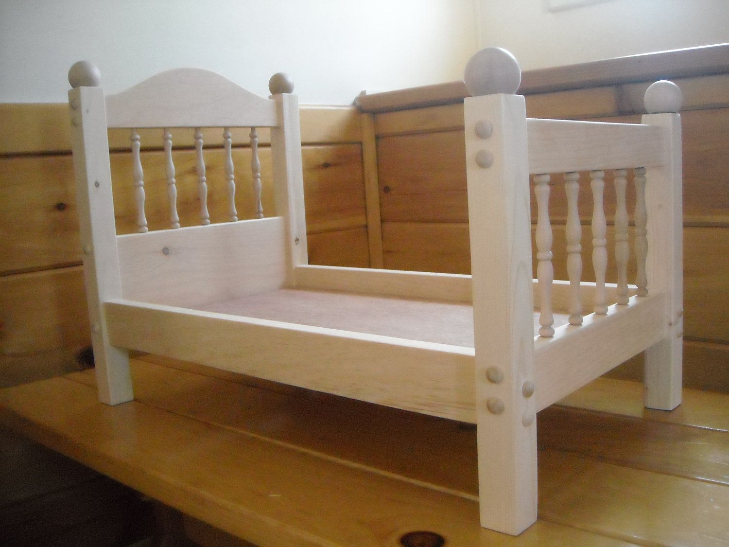 Handmade Doll Bed for 18 inch doll by admwoodcrafts on