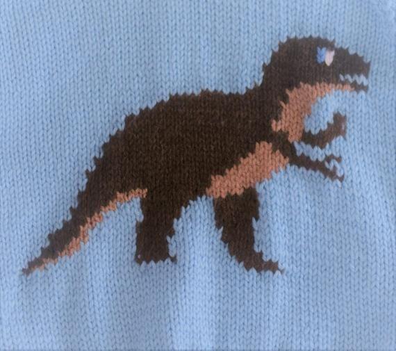 Knitting pattern for Dinosaur Child's Hoodie,Tyrannosaurus ...
