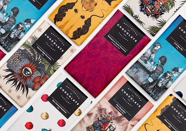 The Wellington Chocolate Factory specialise in beautiful handcrafted chocolate. To marry with this handmade ethos a brand was developed featuring unique illustrations from an array of artists to represent each chocolate flavour and variety.Accompanying …