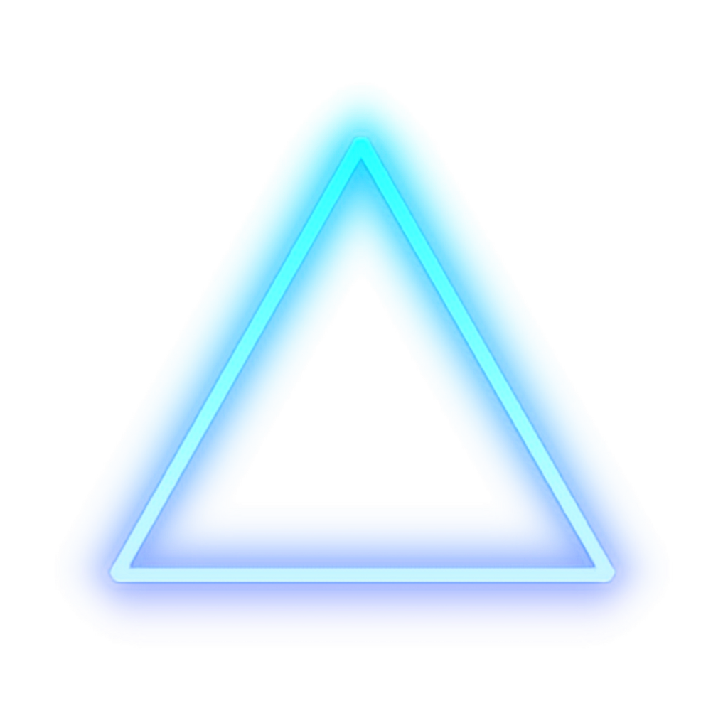 Discover the coolest #triangle #blue #glow #light #shape # ...