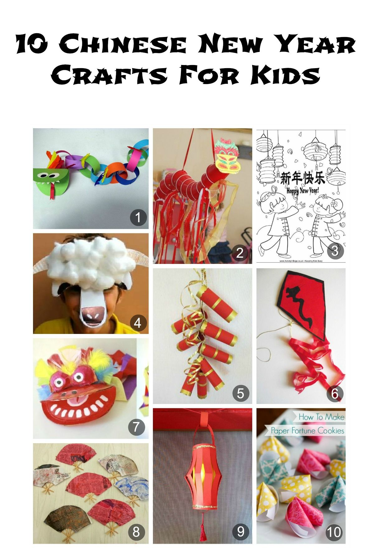 10 Chinese New Year Crafts For Kids Chinese New Year Crafts For Kids Crafts For Kids Chinese New Year Crafts