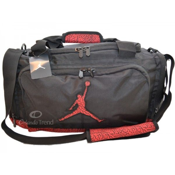 46852640ba Nike Air Jordan Black and Red Elephant Duffel Bag 9A1413-391 at  OrlandoTrend.com