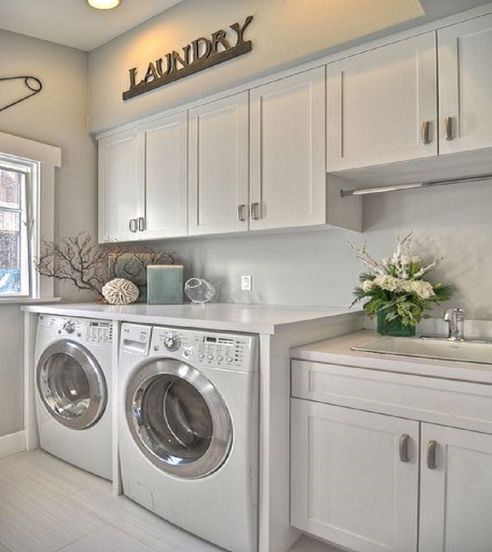 60 Amazingly Inspiring Small Laundry Room Design Ideas I Like This Design.  Washer/dryer Side By Side, Plus The Sink. I Would Have A Different Color  For The ... Part 92