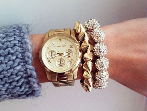 Golden jewellery.