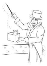 magier, zauberer | ausmalen, ausmalbilder, ausmalbilder kinder