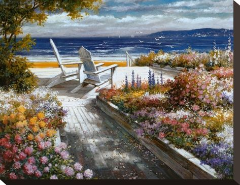 Path With Beach Chairs Posters By T C Chiu Posters Art Prints