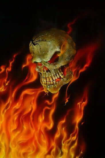 dibujo de calavera con fuego  FERNANDO  Pinterest