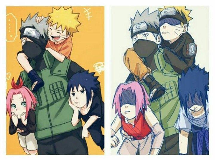 Team 7 - Before\After XD u003c3 7thHokageTop Pinterest Naruto - team 7 k che
