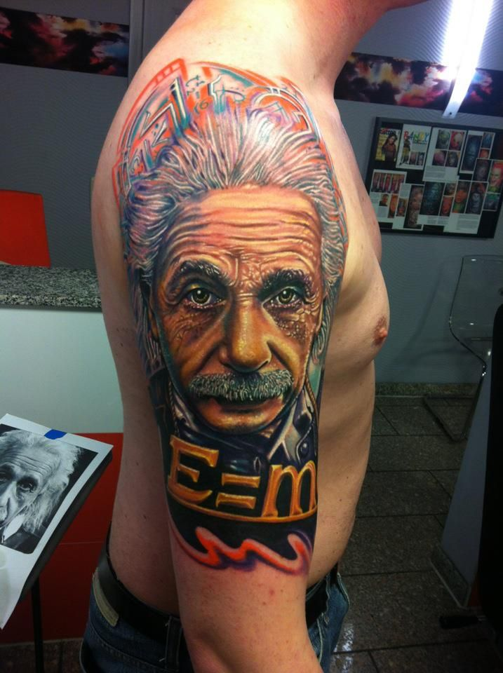 Roman Tattoo Albert Einstein Tattoo Art Project Roman