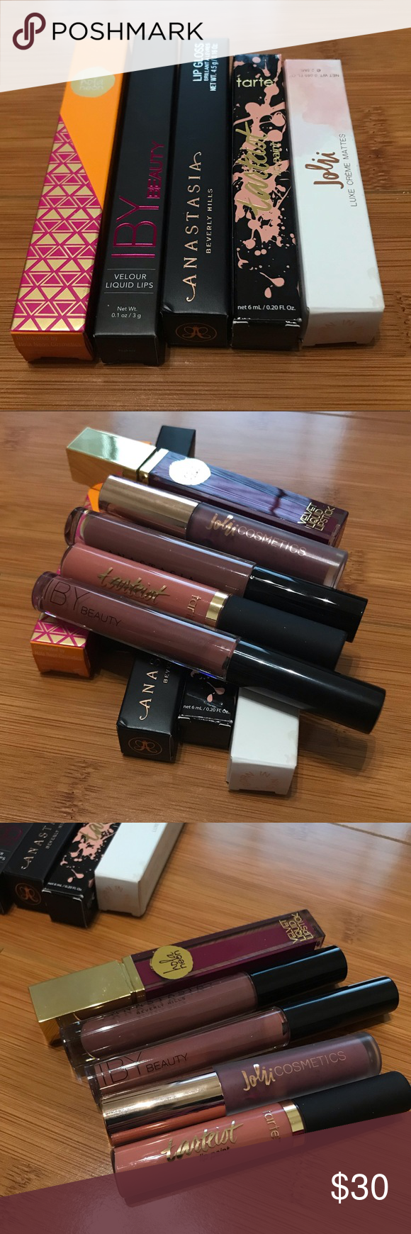 Lipsticks Haul All Not used Full size Jolii Cosmetics Luxe Creme Matte Cruelt... - Lipsticks Ha