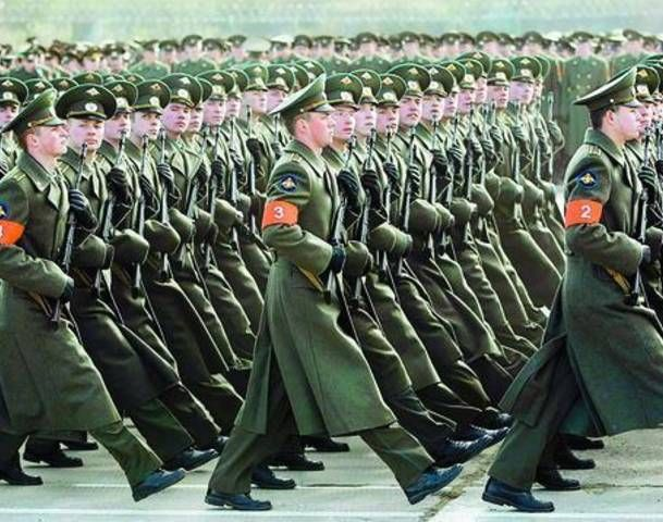 Soviet Military Parade   Russian Military Parade Commemorating Victory against the Nazis