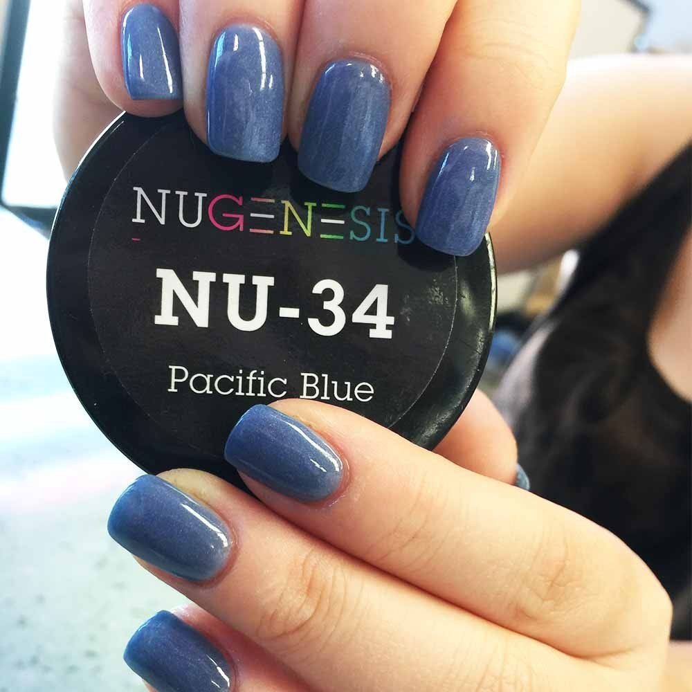 Nugenesis Nails Pacific Blue With Images Nail Dipping Powder