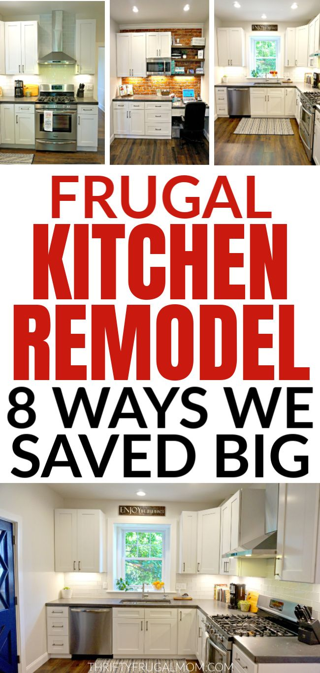 8 Ways that We Saved Big on Our Frugal Kitchen Remodel