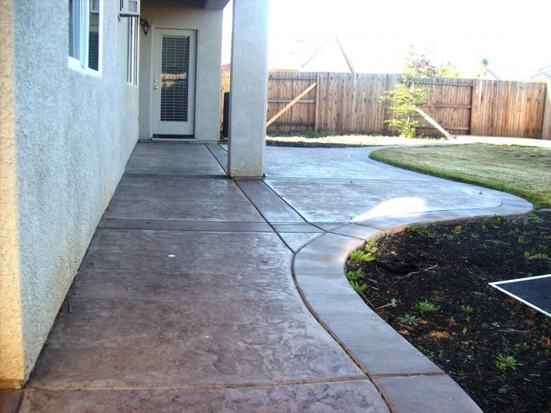 stamped concrete ramon slate and broom bands concrete design let ae concrete be your - Stamped Concrete Design Ideas