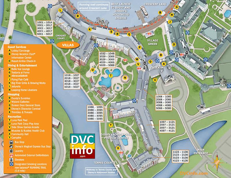 Disney\'s BoardWalk Villas Resort Map in 2019   Disney ...