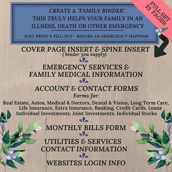 Accounts & Contact Information Forms