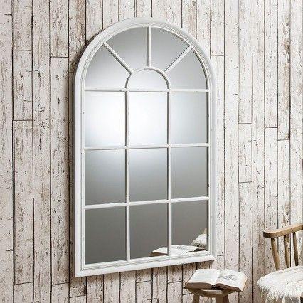 White Washed Round Mirror Fireplace Mirror Living Room Mirrors Window Mirror