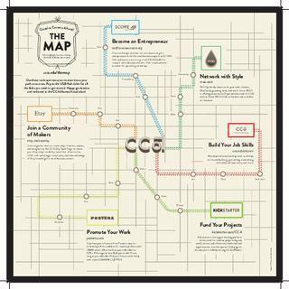 The Map Creative Careers Ahead Creative Careers Education Info Map