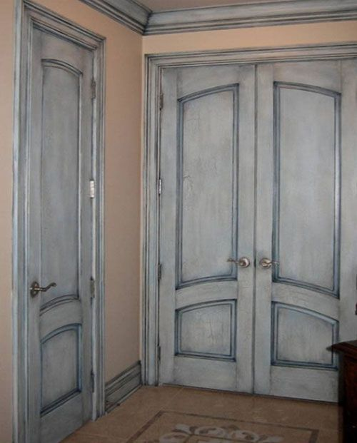 Pinturas con efecto3 puertas pinterest pinturas - Pintura puertas madera ...