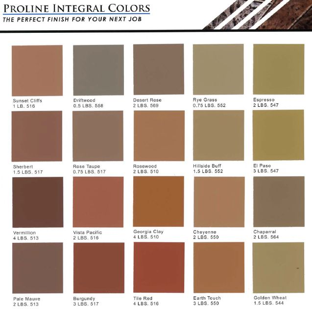 Integral Coloring Options For Concrete