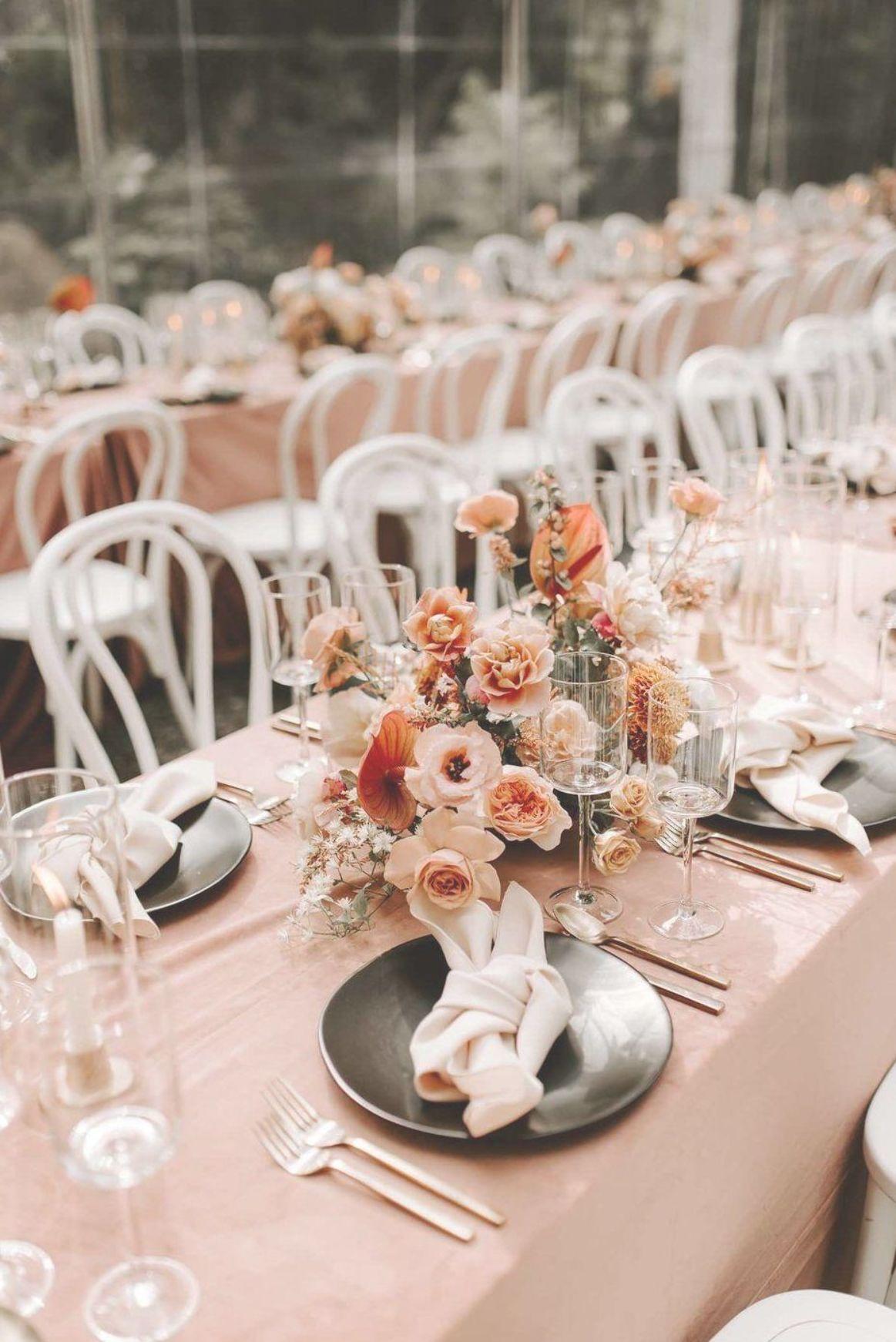 Elegant Centerpiece on wedding table at Portland wedding ...