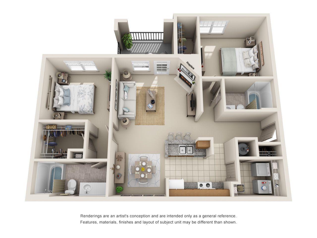1 2 Bedroom Apartments In Lewisville Tx Floor Plans Lewisville Texas Apartme 2 Bedroom Apartment Floor Plan Apartment Layout Studio Apartment Layout