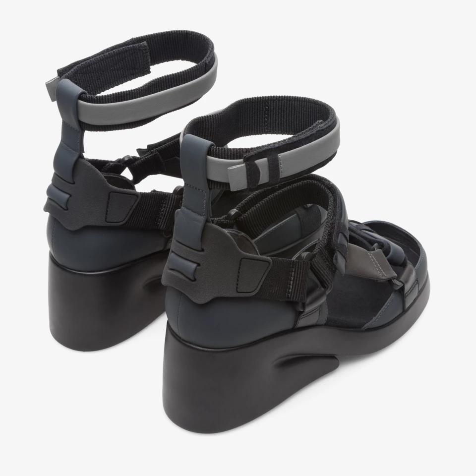 Camper shoes, Black wedges, Avant garde