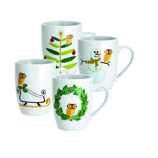 @Overstock - The festive season is the time to put a little fun into home decor and these Holiday Hoot mugs by Rachael Ray don't disappoint. Each of these four 11-ounce mug features the owl from the Little Hoot pattern in a different winter scene.http://www.overstock.com/Home-Garden/Rachael-Ray-Holiday-Hoot-11-ounce-Mugs-Set-of-4/7471055/product.html?CID=214117 $24.99