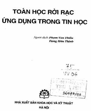 Ebook Toán rời rạc ứng dụng trong tin học (Tiếng Việt
