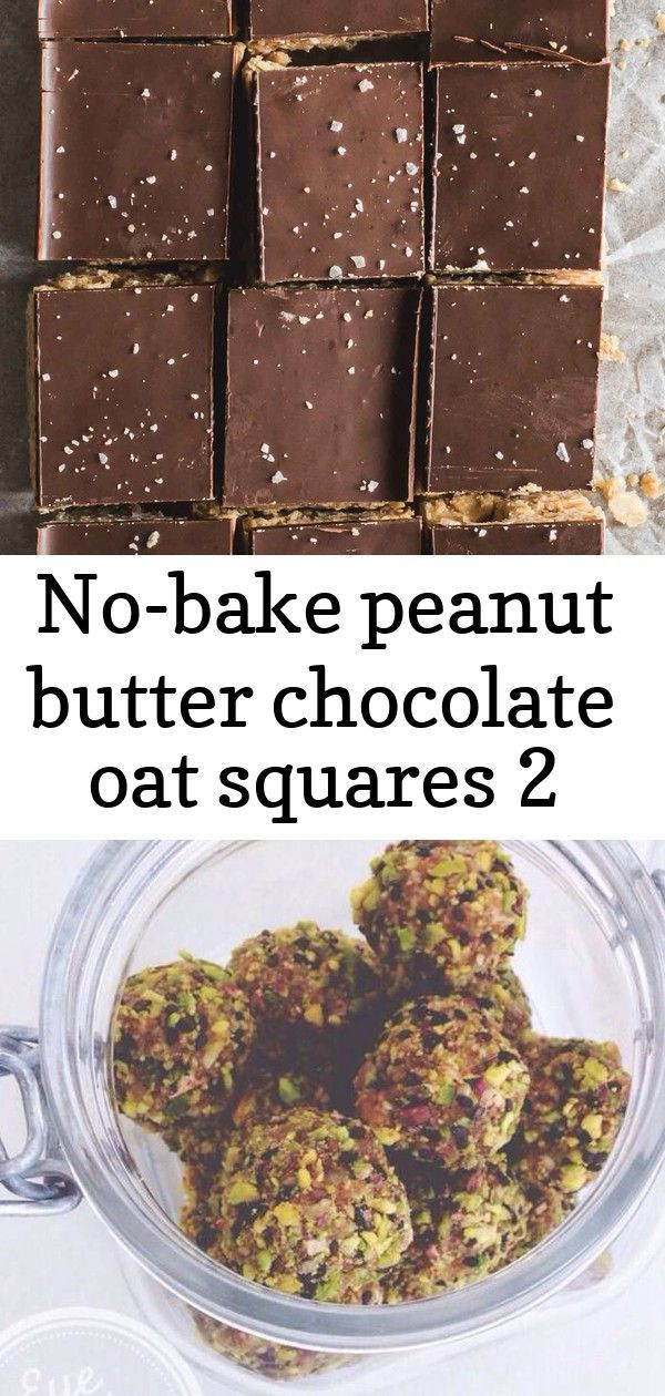 peanut butter chocolate oat squares 2 Youll love this NoCook Peanut Butter and Chocolate Oat Squares recipe Its ready in minutes vegan with only 4 ingredients peanut butt...