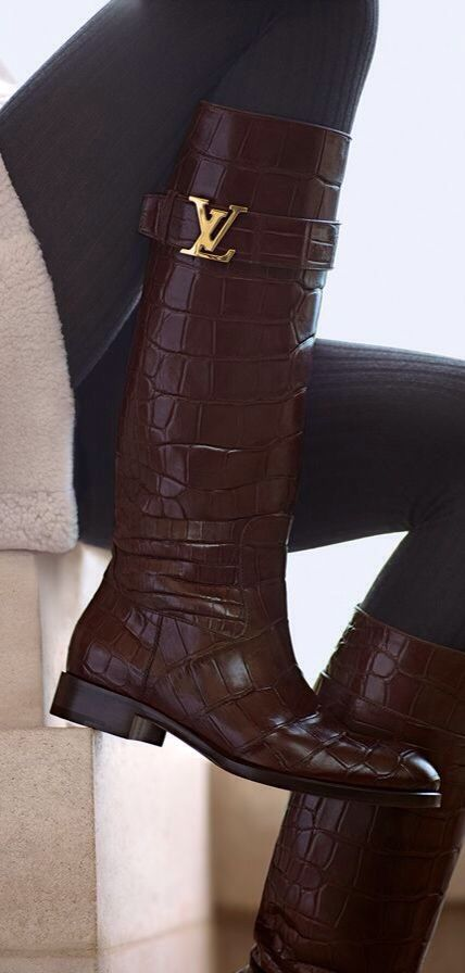 Louis Vuitton Boots -  Luxurydotcom via LV   shoeporn   Louis ... d9e3850a982