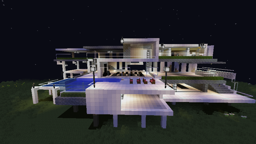 Minecraft modern mansion build modern pinterest - Mansiones modernas ...