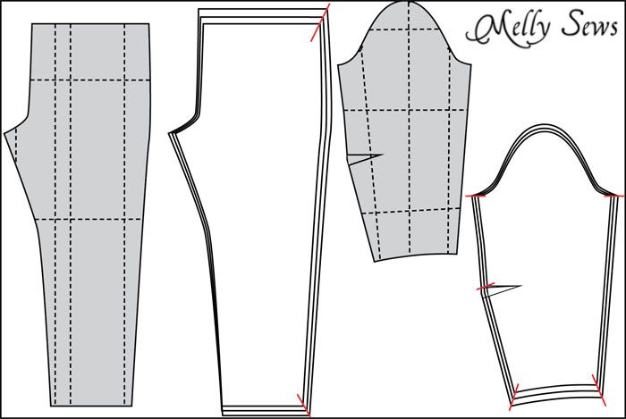 How to Make a Sewing Pattern Bigger (or smaller) - Pattern Grading ...