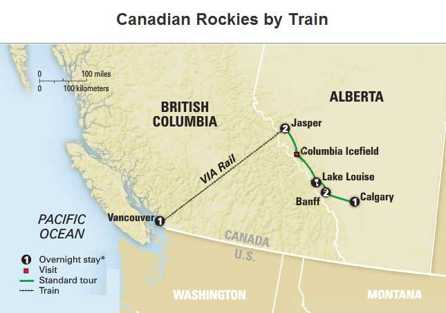 Tour: Canadian Rockies by Train. Visit AAA Vacations ... on road map of upstate new york, road map of california, road map of northeast massachusetts, road map of the catskills, road map of martha's vineyard, road map of kingston, road map of central illinois, road map of manhattan, road map of new york city, road map of florida, road map of alabama, road map of vancouver island, road map of block island, road map of las vegas, road map of western mass, road map of brooklyn, road map of ny state, road map of the east coast, road map of maine coast, road map of north america,