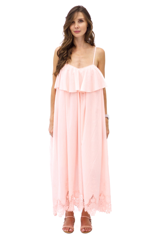 3bfb881b1a2 Achers peach color summer maxi dress with lace decor  achers peach maxi  romantic lace dress peachdress maxidress romanticdress summerdress  lacedress