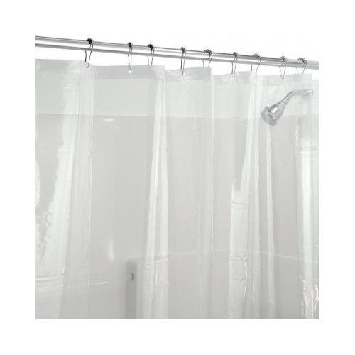 Shower Curtain Liner Clear Bath Tub Mold Mildew Chlorine Free