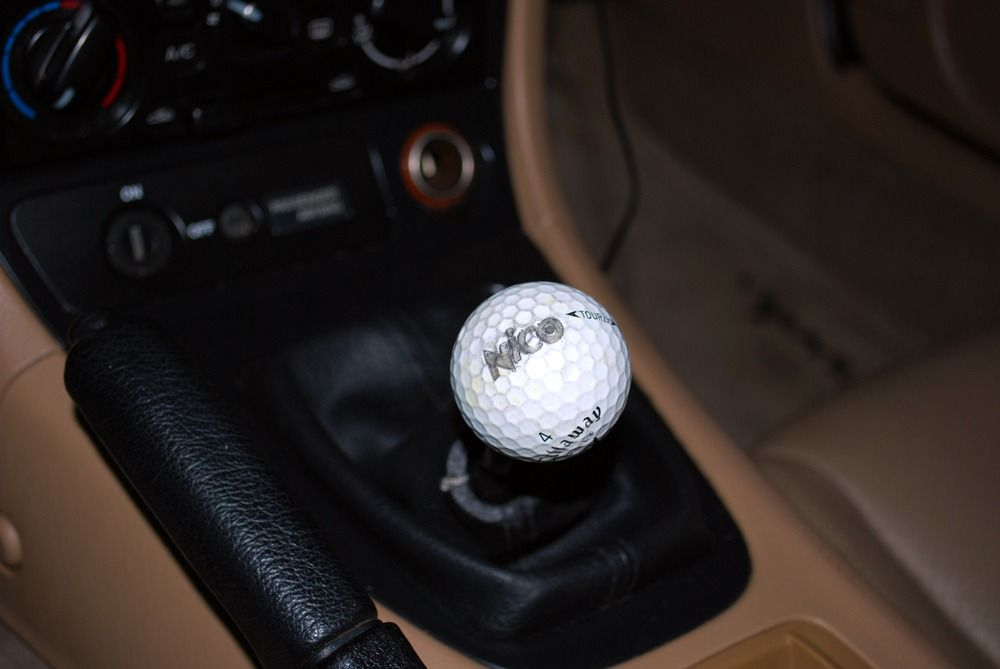 Homemade golf ball shift knob. A great idea wasted on a ...