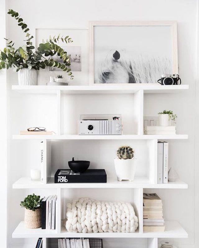 Pinterest Bedroom Design: Estanterías Blancas
