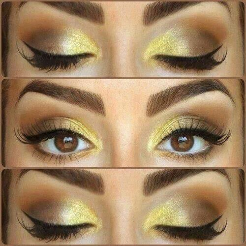 hell #goldenes #Augenmakeup