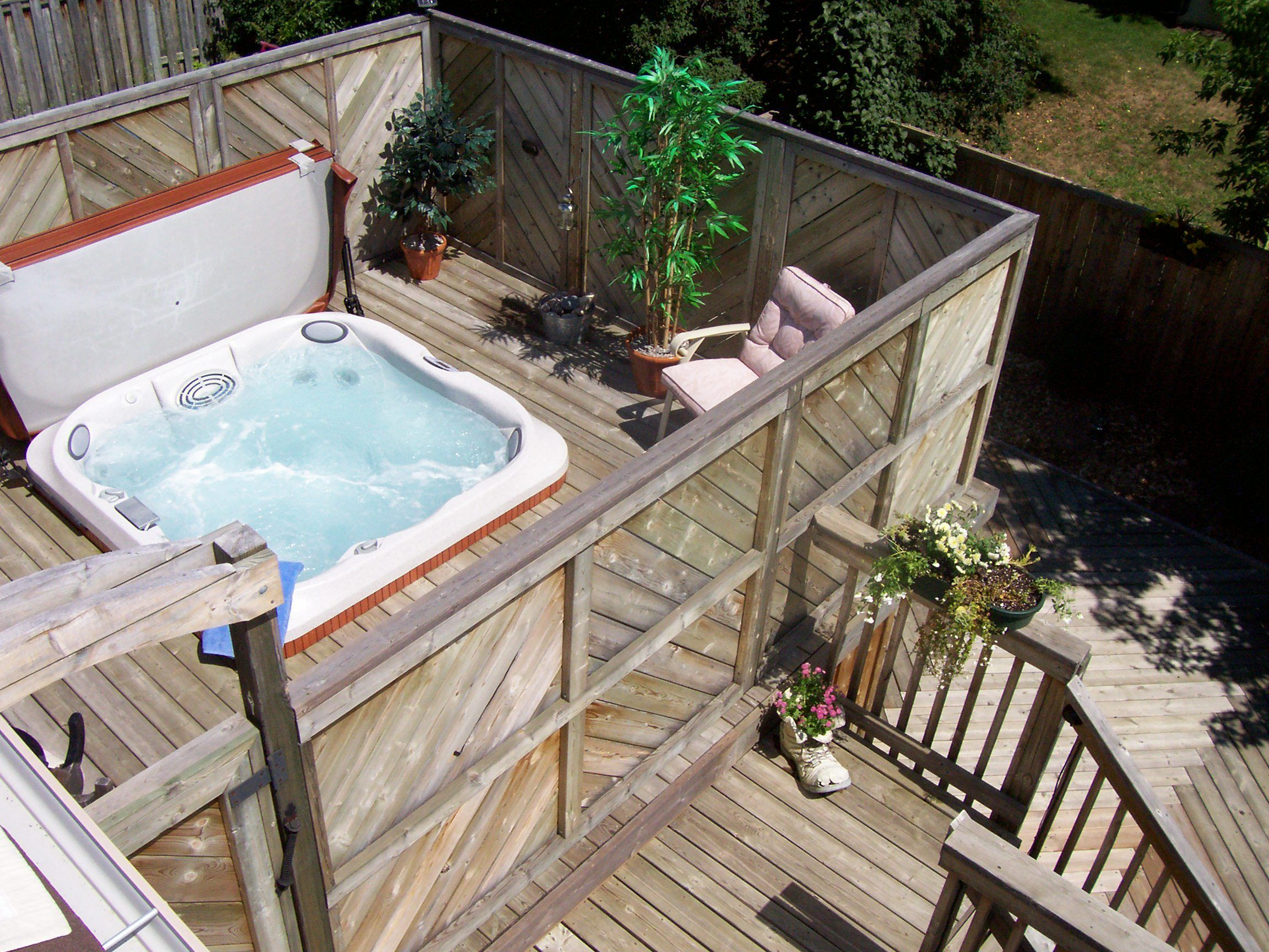 Hot Tub Installed Into A 2nd Floor Deck Indoor Outdoor Pool Hot Tub Swim Spa Hot Tub