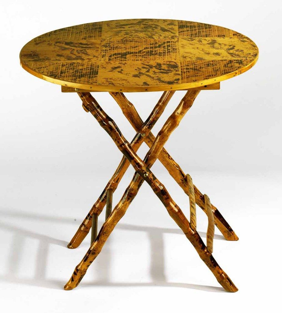 Design Chic Bamboo Rattan Round Folding Table 272 50 Http