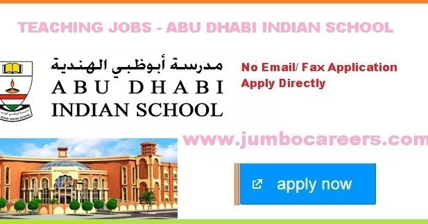 Abu Dhabi Indian School Teachers Recruitment, ADIS Hiring